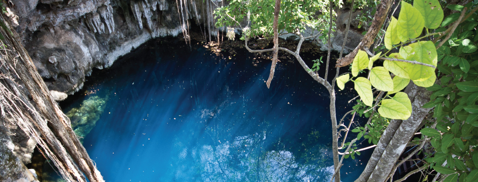 From crystaline cenotes to the Mayan jungle, the Yucatán peninsula offers an abundance of natural beauty to explore above ground, underground, and beyond.